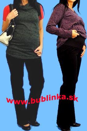 Tehotenské menčestráky, rovný strih. Skladom veľ.S,L,XL