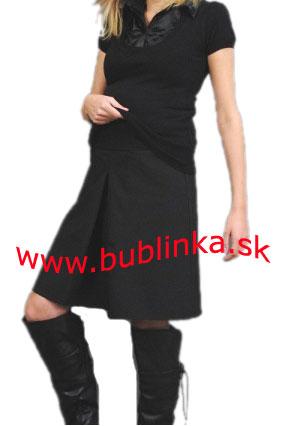 Tehotenská sukňa s kontrafaldou