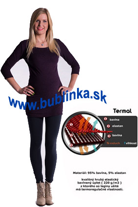 Zimné tehotenské legíny, oceľovošedé. Skladom S,M,L,XL,XXL